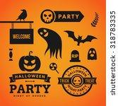 set of halloween vector... | Shutterstock .eps vector #318783335