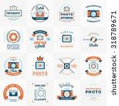 vector set of photography logo... | Shutterstock .eps vector #318789671