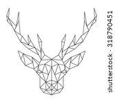 polygonal deer head   Shutterstock .eps vector #318790451