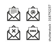 mail envelope icons. message...   Shutterstock .eps vector #318792257