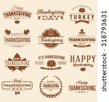 happy thanksgiving day design... | Shutterstock .eps vector #318793631