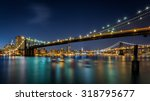 brooklyn and manhattan bridges... | Shutterstock . vector #318795677