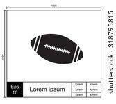 american football ball   vector ... | Shutterstock .eps vector #318795815