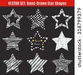 set of hand drawn textures star ... | Shutterstock .eps vector #318799379