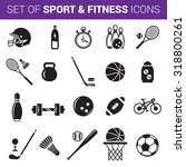 set of sport and fitness icons... | Shutterstock .eps vector #318800261