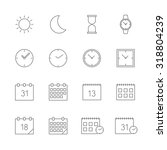 time date icons set | Shutterstock .eps vector #318804239