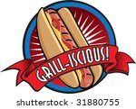 illustration of hot dog. | Shutterstock .eps vector #31880755