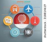 travel concept design info... | Shutterstock .eps vector #318814619