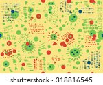 creative seamless pattern with... | Shutterstock .eps vector #318816545