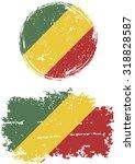 congo republic round and square ... | Shutterstock .eps vector #318828587