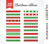 set of christmas seamless... | Shutterstock .eps vector #318828761