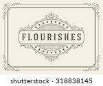 vintage ornament greeting card... | Shutterstock .eps vector #318838145