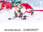christmas background with red... | Shutterstock . vector #318839057