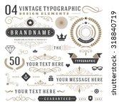 retro vintage typographic... | Shutterstock .eps vector #318840719