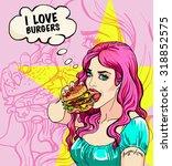 bright attractive sexy cover... | Shutterstock .eps vector #318852575
