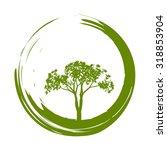 vector tree and zen circle... | Shutterstock .eps vector #318853904