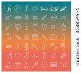 set of forty nine medical icons ... | Shutterstock .eps vector #318854975