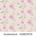 cute flower seamless pattern.... | Shutterstock .eps vector #318855929