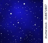 simple starry royal blue sky... | Shutterstock .eps vector #318872807