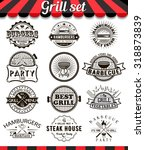 grill vintage design elements... | Shutterstock .eps vector #318873839