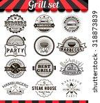 grill vintage design elements... | Shutterstock .eps vector #318873839