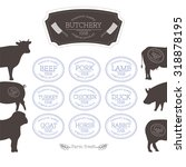 set of meat stamps  butchery... | Shutterstock .eps vector #318878195