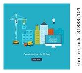flat design concept... | Shutterstock . vector #318885101