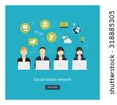 social network and teamwork... | Shutterstock . vector #318885305