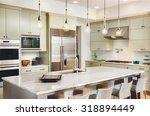 kitchen interior with island ...   Shutterstock . vector #318894449