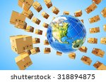 worldwide purchases delivery... | Shutterstock . vector #318894875