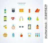 modern flat icons of healthy... | Shutterstock . vector #318895829