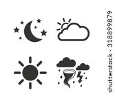 weather icons. moon and stars... | Shutterstock .eps vector #318899879