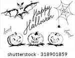 halloween poster elements | Shutterstock .eps vector #318901859