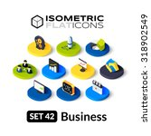 Isometric flat icons, 3D pictograms vector set 42 - Business symbol collection | Shutterstock vector #318902549