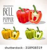 illustration of red  yellow and ... | Shutterstock .eps vector #318908519