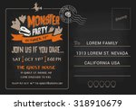 halloween monster party... | Shutterstock .eps vector #318910679