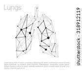 lungs carcass polygonal... | Shutterstock .eps vector #318912119