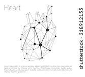 heart carcass polygonal... | Shutterstock .eps vector #318912155