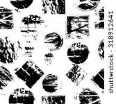 vector seamless geometrical... | Shutterstock .eps vector #318912641