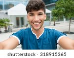 closeup shot of handsome young... | Shutterstock . vector #318915365