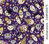 halloween skulls pattern 01 in... | Shutterstock .eps vector #318920375