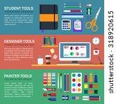 painter and designer tools in... | Shutterstock .eps vector #318920615