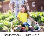 mother giving child daughter... | Shutterstock . vector #318933215