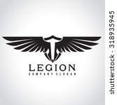 legion  eagle logo  angel logo  ... | Shutterstock .eps vector #318935945