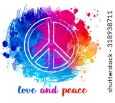 peace hippie symbol over... | Shutterstock .eps vector #318938711