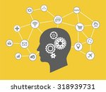 internet of things and thinking ... | Shutterstock .eps vector #318939731