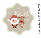 modern merry christmas and  new ... | Shutterstock .eps vector #318944879