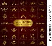 calligraphic design elements in ... | Shutterstock .eps vector #318947444