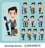 Set Of Businessman Characters...