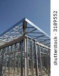 Steel Construction Frame - stock photo